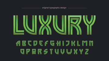tipografía elegante vintage verde metálico vector