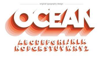 tipografía de sombra larga mayúscula roja vector