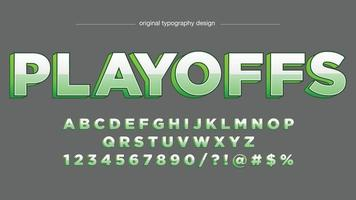 Glossy Green Uppercase 3D Typography vector