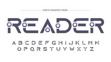 Futuristic Uppercase Sports Typography vector