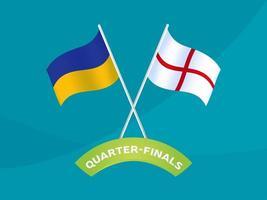 Ucrania vs Inglaterra partido ilustración vectorial campeonato de fútbol 2020 vector