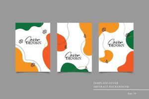 Template cover abstract background vector