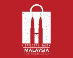 Malaysia Independence Day Sale Vector