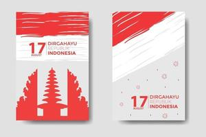 Indonesia Independence Day Bundle Template vector