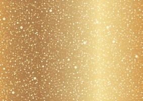 Seamless Gold Abstract Background With Snowflakes, Lights, And Halos. Vector Illustration. Horizontally And Vertically Repeatable.