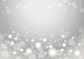 Silver And White Abstract Bokeh Background. Christmas And New Year Holidays Vector Illustration.