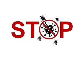 Stop virus background. Pandemic medical concept with dangerous cells. Vector. vector