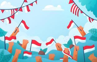 Indonesia Independent Day Flag Background vector