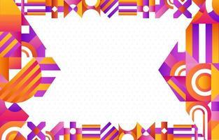 fondo geométrico abstracto creativo vector