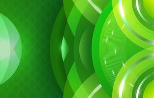 Abstract Circle Green Gradient vector