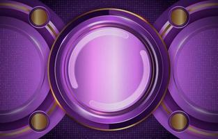 Modern Premium Golden Circle Purple vector