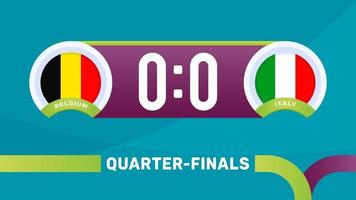 belgium vs italy match vector illustration Football 2020 championship
