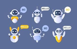 Chatbot Concept Collection vector
