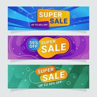 Set of Sales Banner Collection vector
