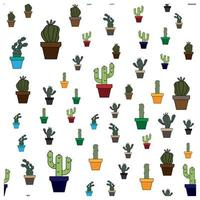 pot cactus seamless pattern perfect for background or wallpaper vector
