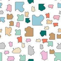 puzzle pieces pastel color seamless pattern perfect for background or wallpaper vector