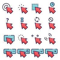paquete de iconos de puntero de flecha vector