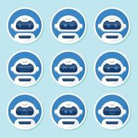 Chatbot Icon Pack vector