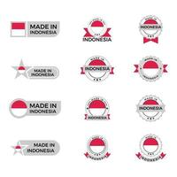 Made in Indonesia Badges vector