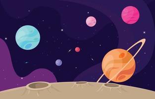 fondo espacial y planetario. vector