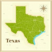 mapa de la ciudad de texas en papel vector