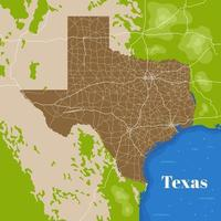 mapa de la ciudad de texas vector