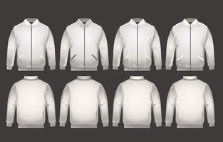 Classic Varsity Jacket Mockup vector
