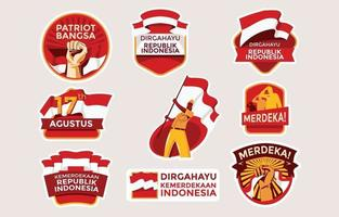 Dirgahayu Kemerdekaan Indonesia for Independence Indonesia Emblem vector