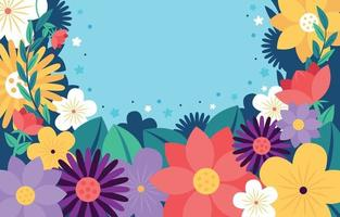 Blooming Flowers Background vector