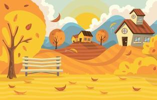 Fall Landscape Illustration vector