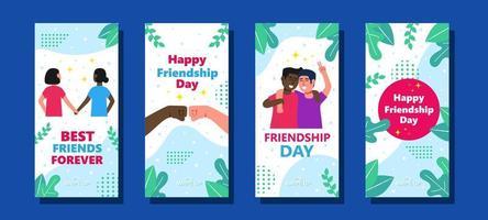 colección de tarjetas de amistad vector