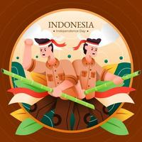 Indonesia Independence Day vector