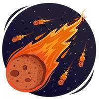Meteor Shower Concept vector