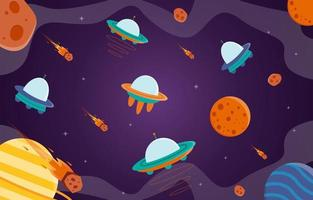 Space UFO Background vector