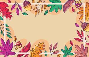Handdrawn Autumn Leaves border vector