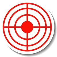 Sticker design with red crosshair isolated vector