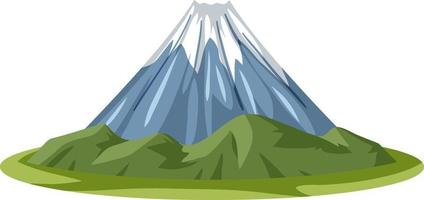 Mount Fuji in cartoon style isolated on white background vector