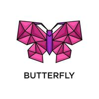 Butterfly with polygon style design vector
