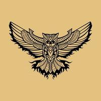 Hand drawn owl design vector