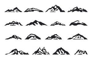 Mountain set logo design vector