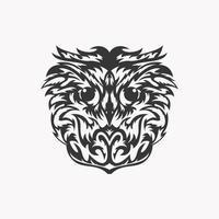 Owl face design vector