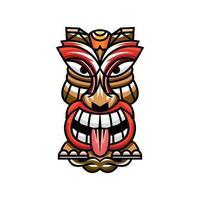 Character Tiki mask  design vector