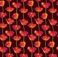 Floral bloom pattern. Flower tuliip background. Flourish bloom ornamental garden vector