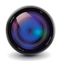 Optic camera lens vector