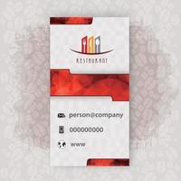 Card presentation logo restaurant vector