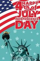 happy 4th of july independence day vector
