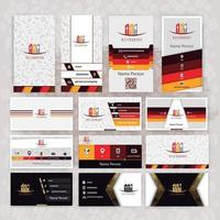 Restaurant card presentation set collection vector