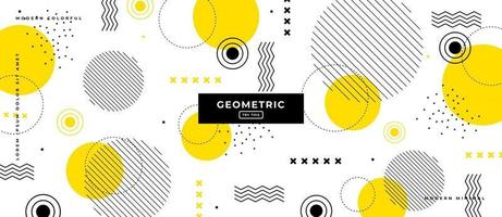 Flat Design Yellow Geometric Shapes Background. vector