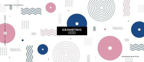 Geometric Flat Design Shapes in White Background. vector