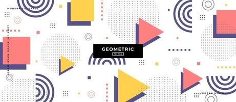 Geometric Polygon Shapes in White Background. vector